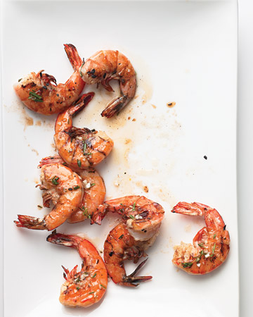 These marinated and grilled shrimp look mouth-watering.