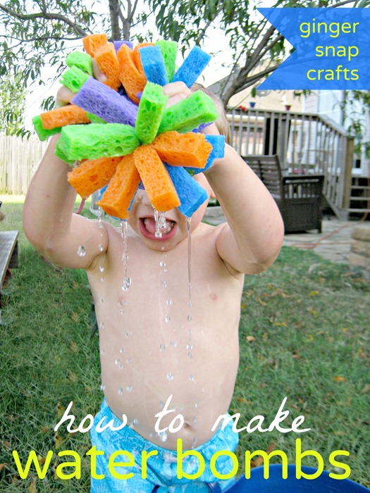 how to make water bombs a tutorial from Ginger Snap Crafts