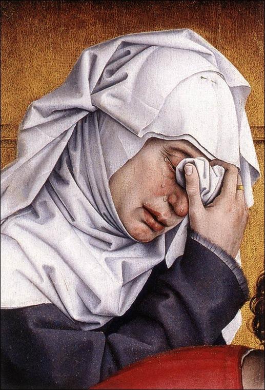 van der weyden,Détail Déposition de croix