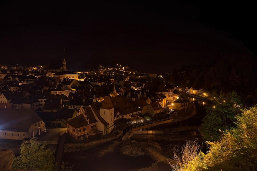 Завораживающий вид на ночной город