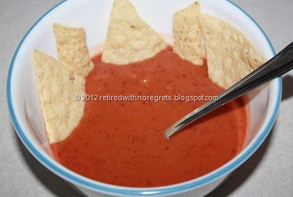 Easy Creamy Tomato Bean Soup - served
