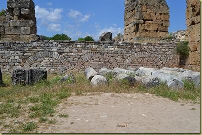 Aphrodisias Baths - drains under arches