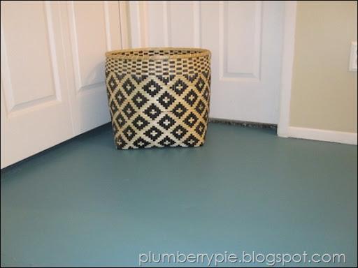 Beau Plumberry Pie Teal Painted Subfloor
