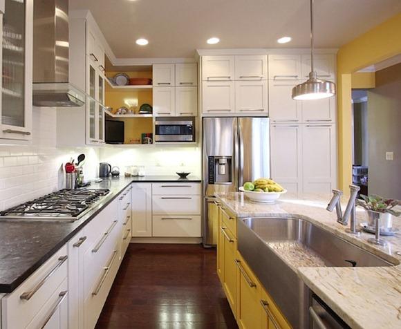 Mezclar y combinar colores en todo su cocina