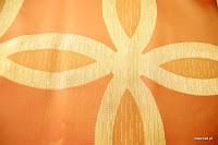 Ekskluzywna tkanina trudnopalna. Na zasłony, poduszki, narzuty, dekoracje. Pomarańczowa, .brzoskwiniowa