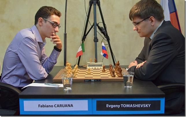 Fabiano Caruana vs Evgeny Tomashevsky, Rd 10, FIDE GP Paris 2013