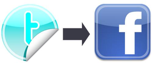 Twitter para Facebook