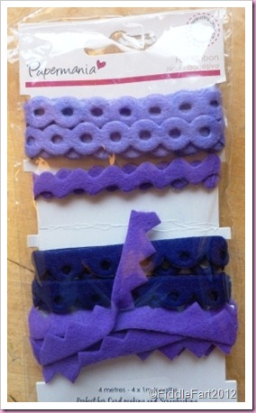 Papermania Felt Ribbon pack