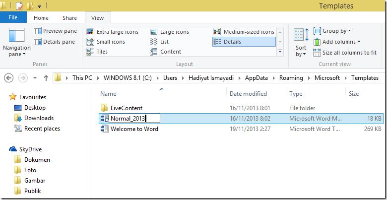 Kak hady berbagi mengubah tampilan text boundaries word for Appdata roaming microsoft templates