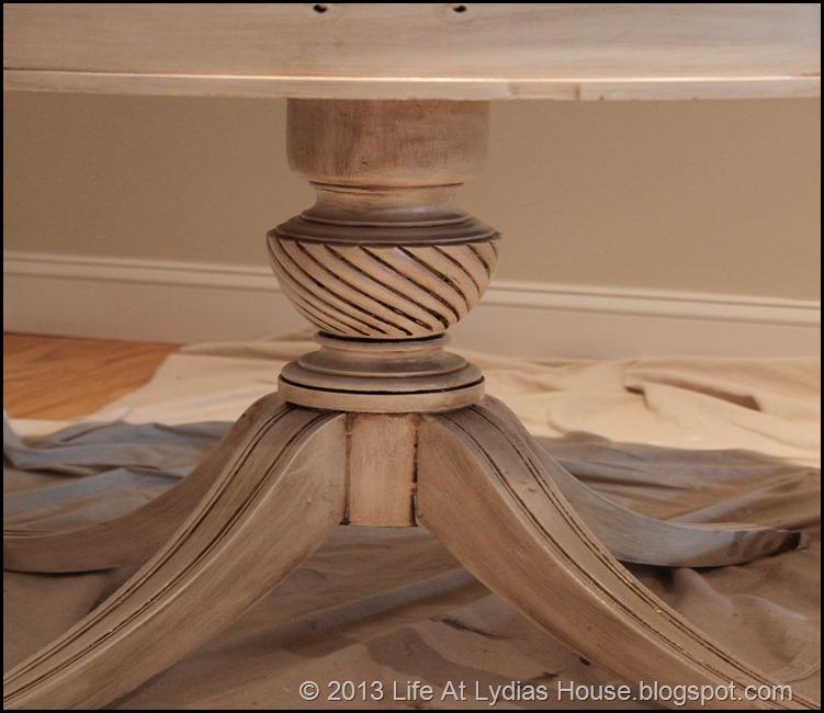 glazed table base