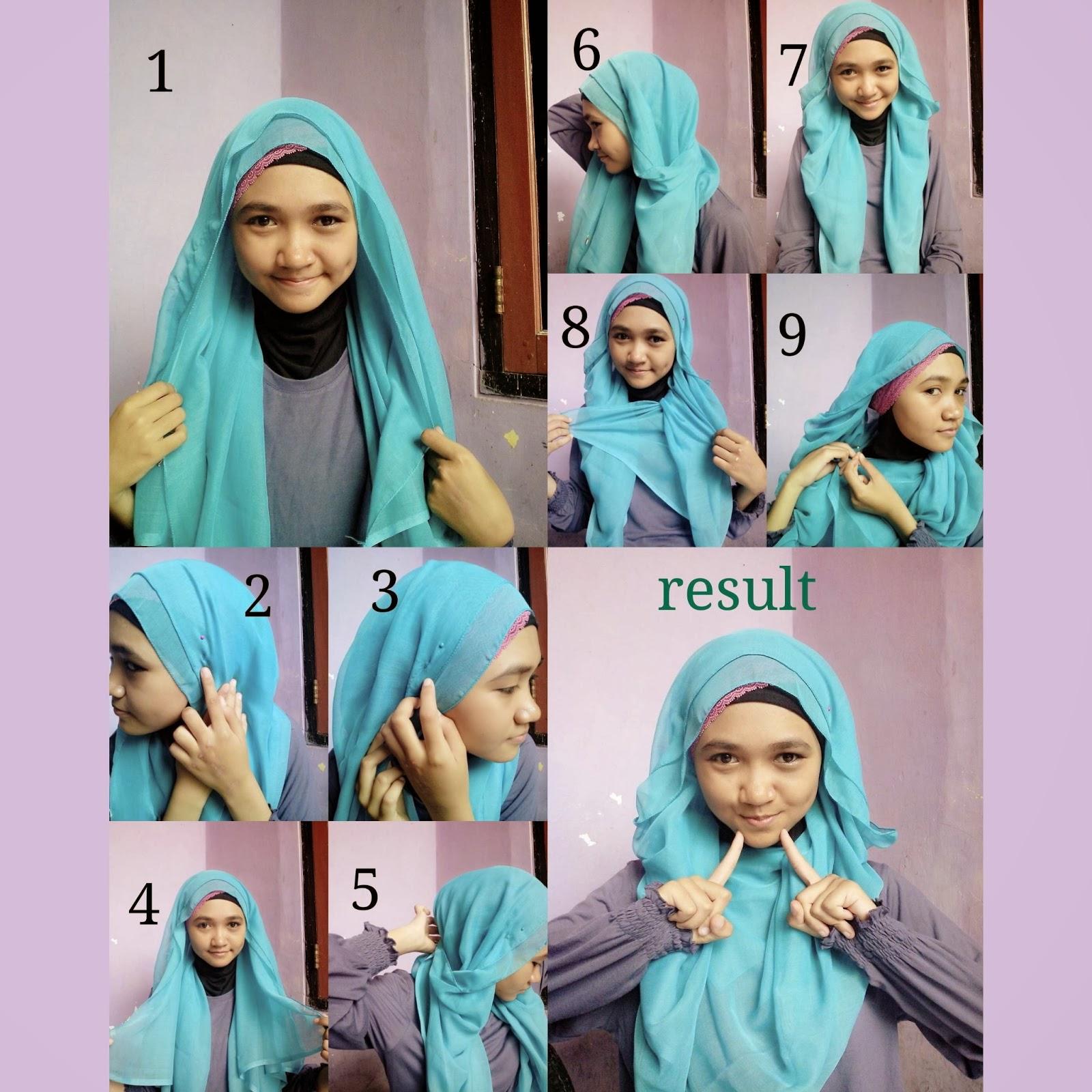 tutorial hijab kerudung segi empat sebelumnya tutorial ini sudah ...