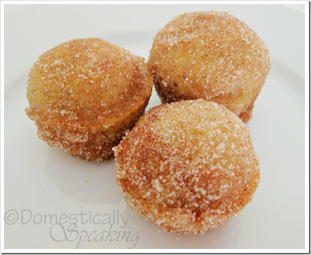 Pumpkin Poppers - easy doughnut holes cooked in a mini muffin tin