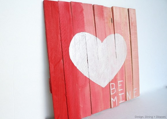 faux pallet art using shims
