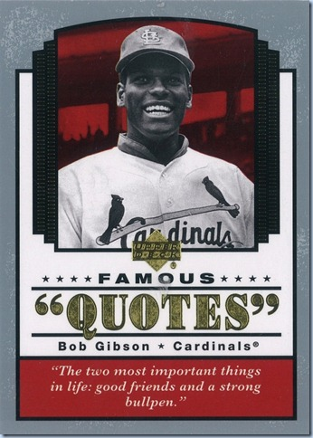 2004 Upper Deck Gibson Quotes