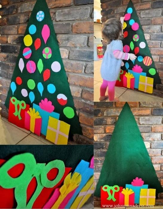 Decoracion Infantil Navidad ~   otras ideas de fieltro para decorar el ?rbol de Navidad en Pinterest
