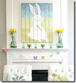 easter mantel