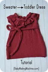 sweater dress toddler tutorial