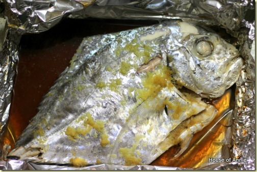 Out of the oven - Threadfin Trevally en papillote