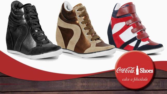 coca cola sneaker tenis salto embutido