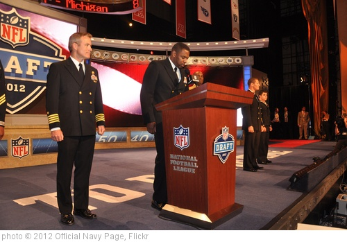 'A Sailor announces the third round draft pick of the 2012 NFL Draft.' photo (c) 2012, Official Navy Page - license: http://creativecommons.org/licenses/by/2.0/