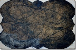 John Luna - Quatrefoil - Oil. gesso. graphite and glue on burlap mounted on wood - 22.5 x 30 inches - 2001