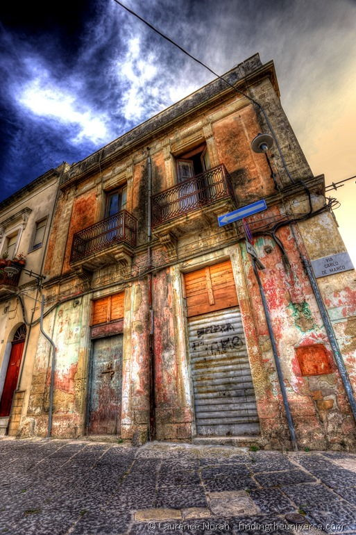 Brindisi old building blue sky Italy