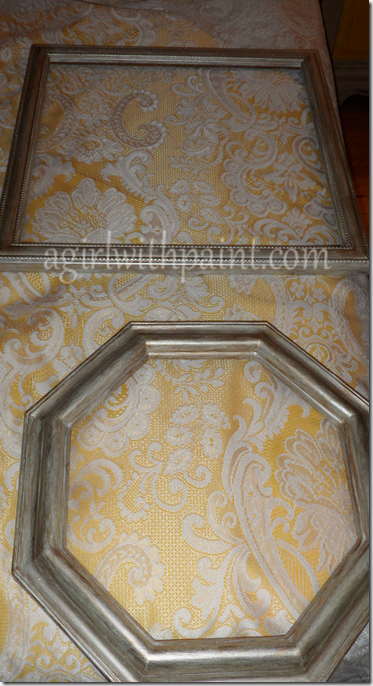 fabric in picture frame