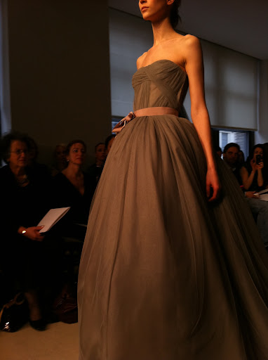 I loved this charcoal, strapless, sweetheart ballgown.