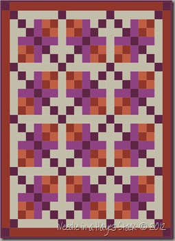 6 Lap Tulip Quilt  -  Colors (42 x 54)