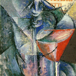 09.- Umberto Boccioni. Still life with glass and siphon