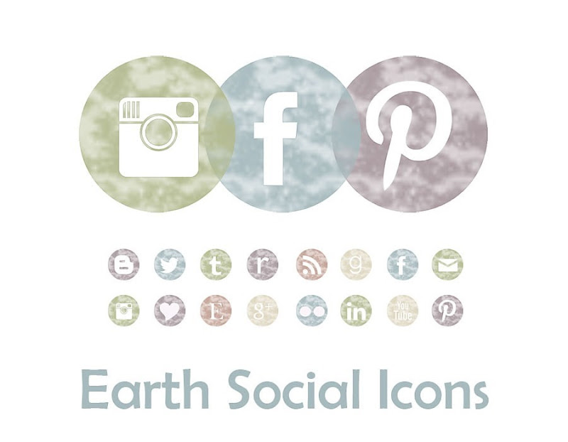 earth social icons