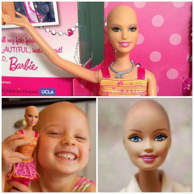 Barbie chauve... ELLA la poupée qui a eu une chimiothérapie!