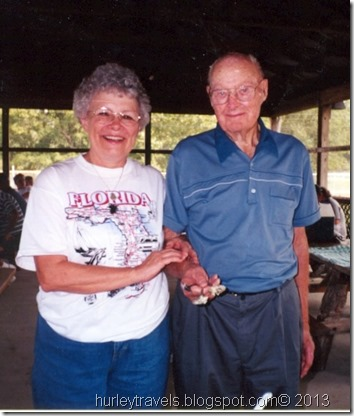 Bernie and Pat enjoying the Niehaus Reunion in 2002.