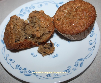 Fresh Fig Oatmeal Muffins - Gluten-Free (served) B