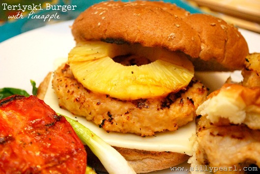 Teriyaki Burger with Pineapple Recipe via The Silly Pearl