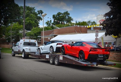 Nice Corvettes - they needed a Ford to tow them, though!