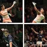 Maritxu Housset (maillot bleu) remporte le premier tournoi féminin devant l'américine Jessica Lopez