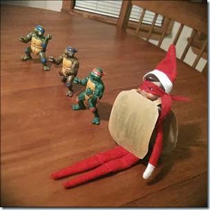 Elf on the Shelf - Teenage Mutant Ninja Turtles