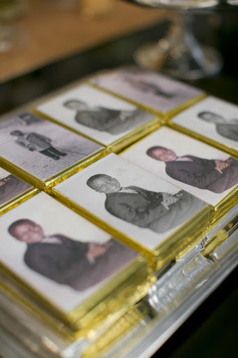 Bloomer Candy Co. made these adorable chocolate bars with Mark's photos on them.