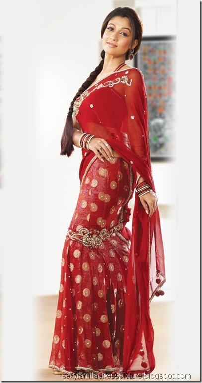 nayanthara-wearing-saree-without-blouse-stills