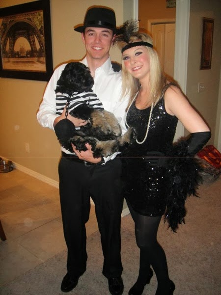 Flapper and Gangster With Criminal Pup  simplesouthernways.blogspot.com