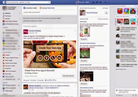 Nuevo diseño de Facebook 2014