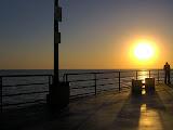On the pier in Huntington Beach