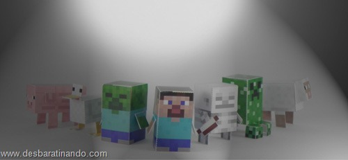 Paper Toys minecraft 1