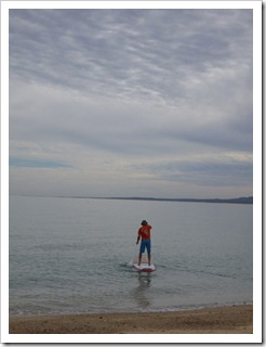 Carol on a SUP in La Ventana
