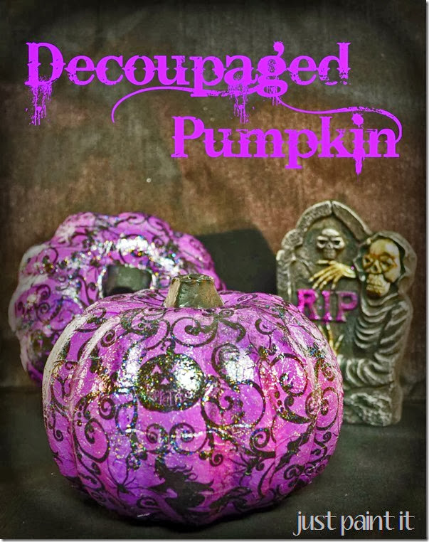 Decoupaged Foam Pumpkins