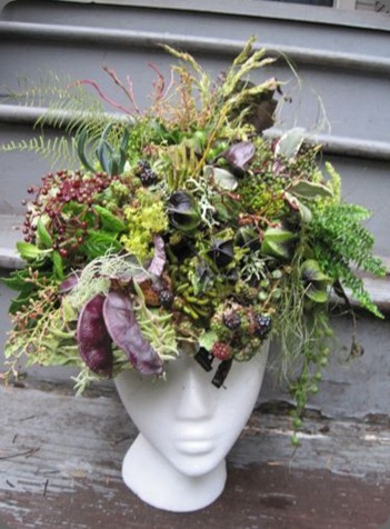 head vase botanical-headpiece-Françoise-Weeks