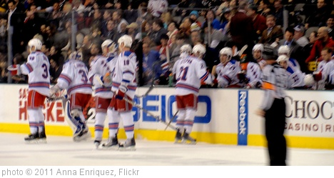 'New York Rangers bench' photo (c) 2011, Anna Enriquez - license: http://creativecommons.org/licenses/by/2.0/