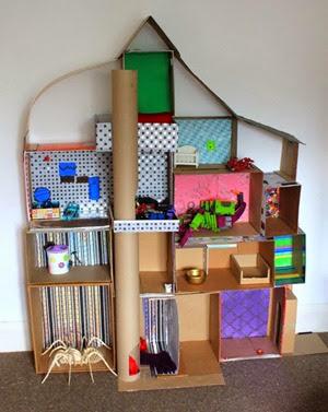 Cardboard dollhouse from Filth Wizardry