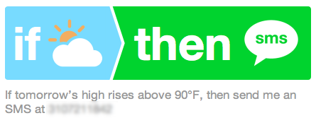 IFTTT recipe summary